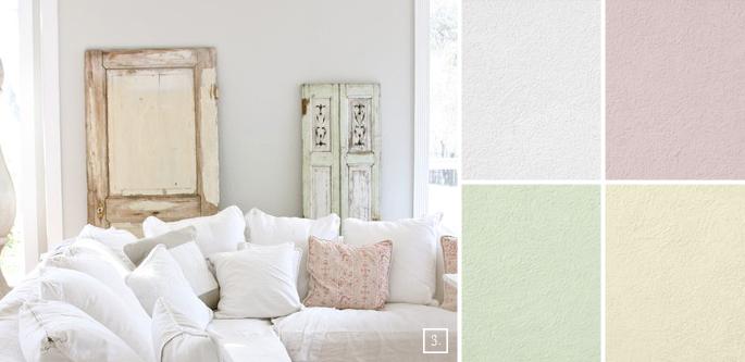 Colori da parete in stile shabby arredamento shabby - Colori da parete ...