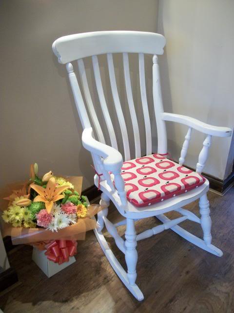 Cuscino shabby per sedia a dondolo arredamento shabby - Cuscino per sedia a dondolo ...