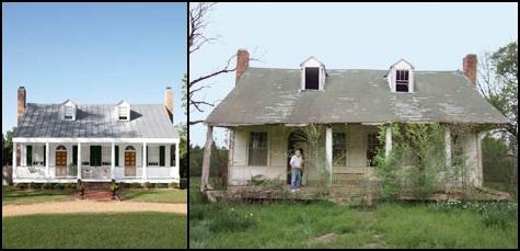 Esterno della casa prima e dopo il restauro shabby with for Costo della costruzione di una nuova casa