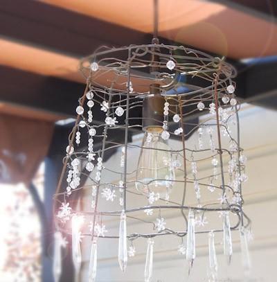 Come creare un lampadario fai-da-te in stile shabby (VIDEO)