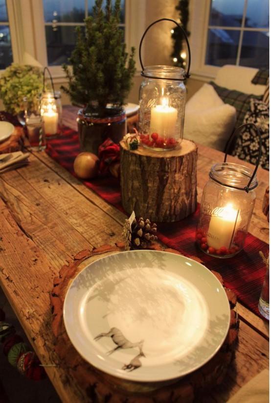 Centrotavola rustici natalizi per una casa in campagna for Piani rustici per la casa di campagna