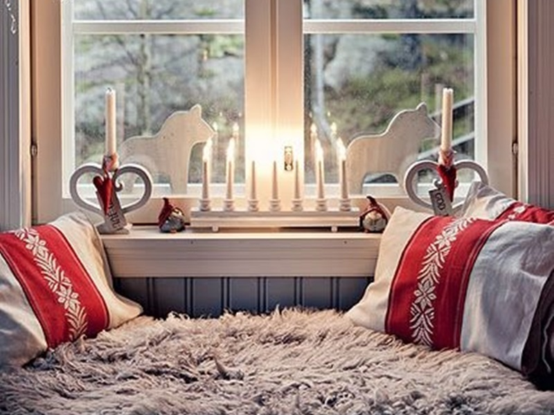 Gli interni delle case scandinave arredate per natale - Addobbare le finestre per natale ...