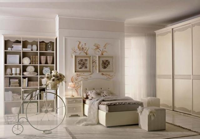 Cameretta bianca in stile provenzale per ragazze arredamento shabby - Arredamento camera ragazza ...