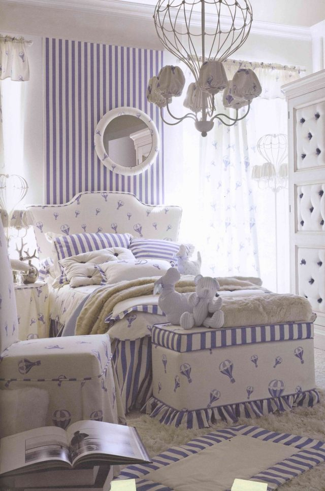 cameretta in stile provenzale per ragazze arredamento shabby. Black Bedroom Furniture Sets. Home Design Ideas
