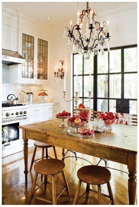 Cucine rustiche in stile shabby chic 30 modelli da sogno for Cucina soggiorno shabby