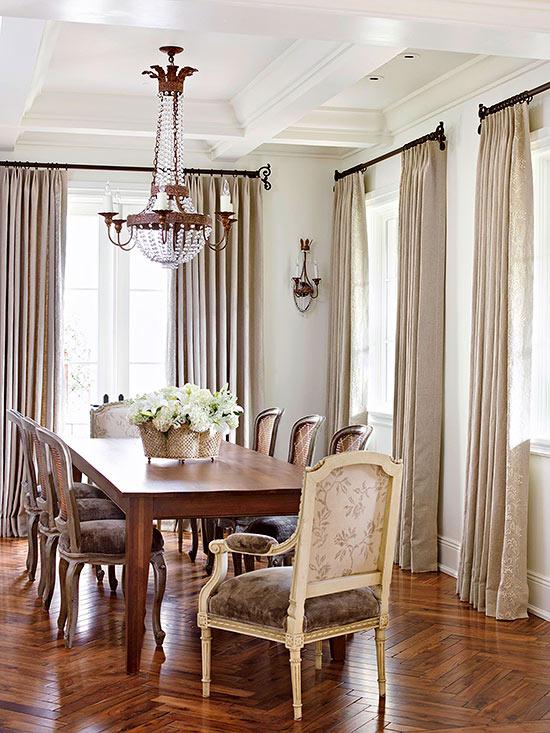 sala da pranzo country francese elegante - Arredamento Shabby