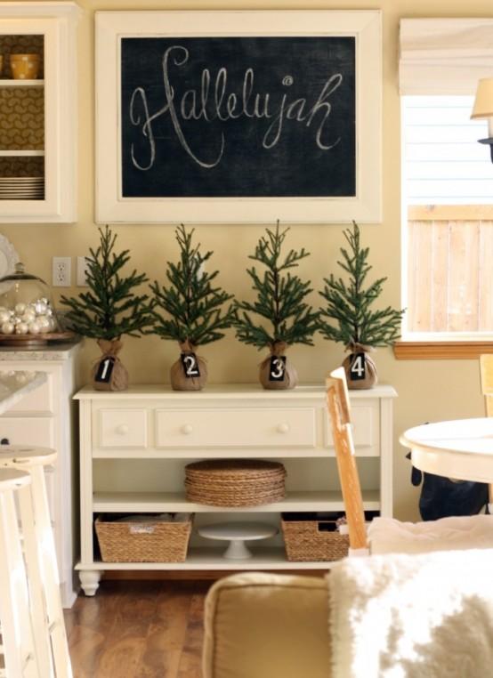 Decorazioni natalizie rustico chic per la cucina shabby - Addobbi natalizi per cucina ...
