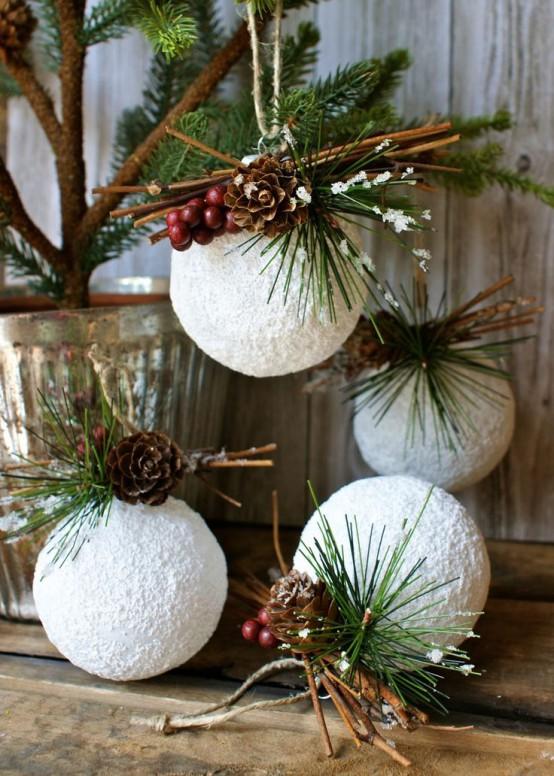 Amato Palle di neve a Natale: ecco come decorare la casa shabby NW09