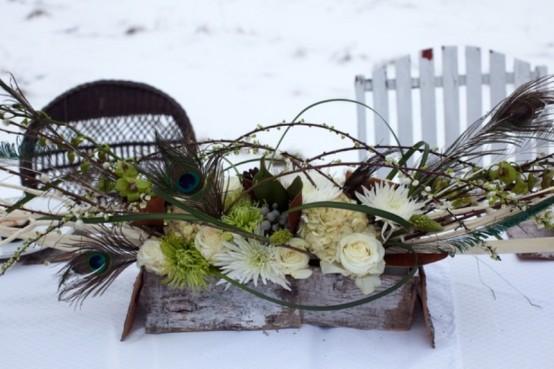 Centrotavola natalizio da favola in stile shabby - Centrotavola natalizio idee ...