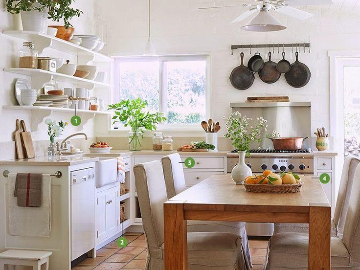 Cucine shabby chic total white 25 modelli da sogno - Cocinas con encanto ...