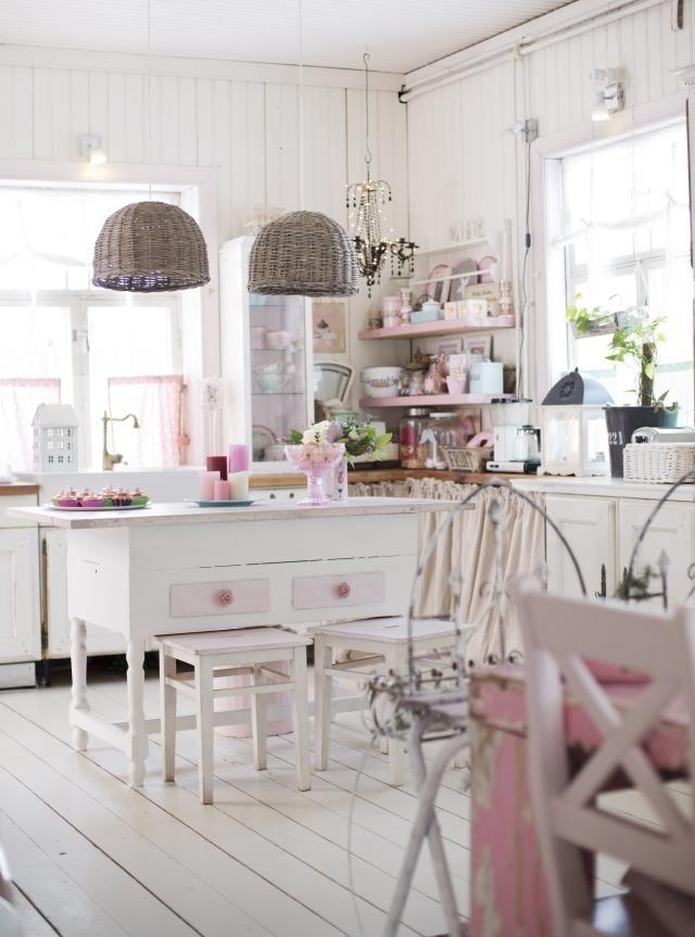 cucine shabby chic total white: 25 modelli da sogno - Cucine Rosa