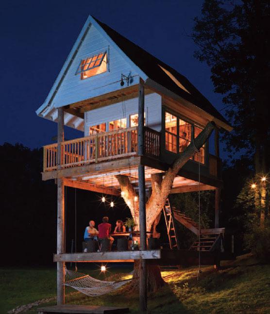 La casa sull 39 albero arredata con un tocco shabby tutti i segreti della tom treehouse - Casa sull albero progetto ...