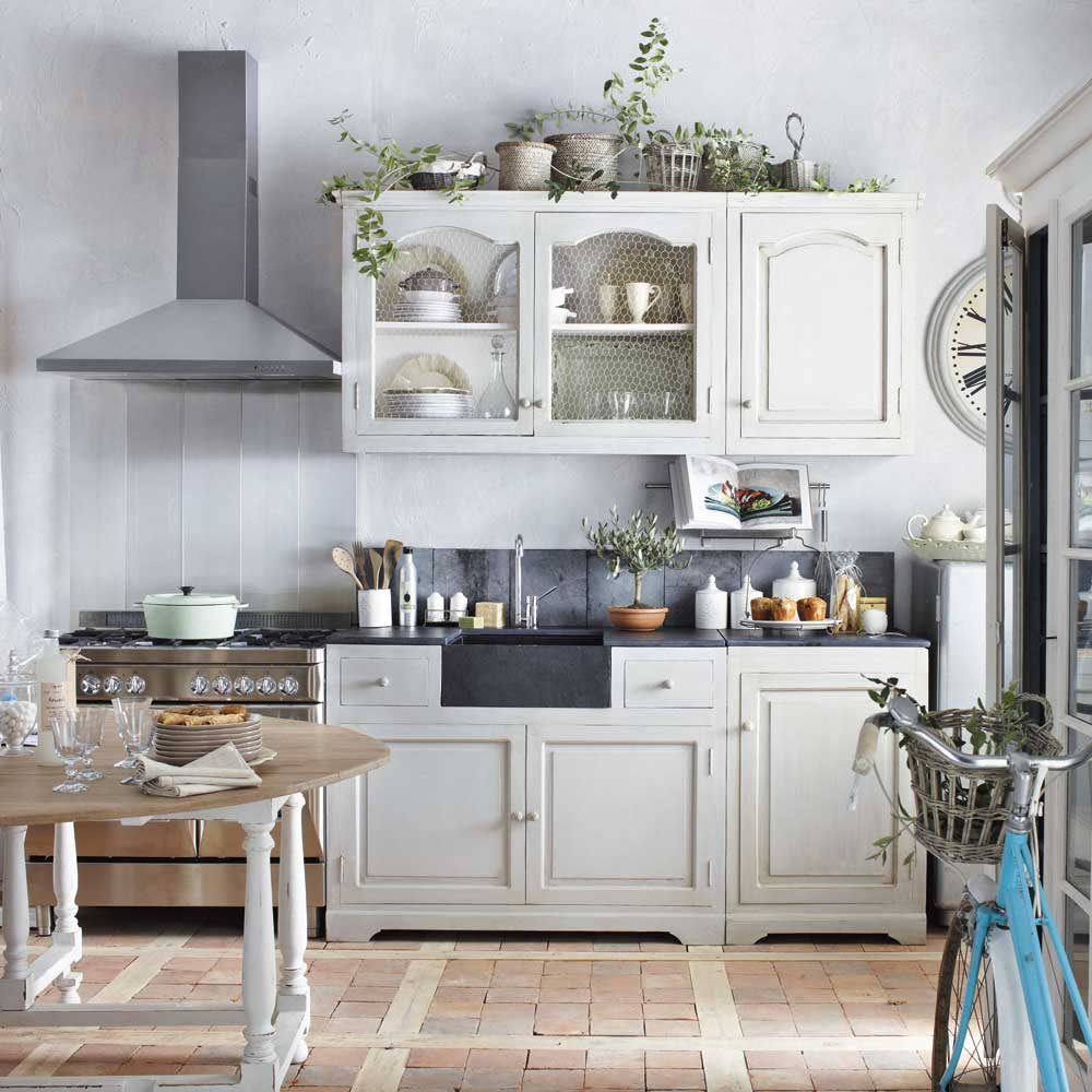 cucina maison du monde bianca arredamento shabby. Black Bedroom Furniture Sets. Home Design Ideas
