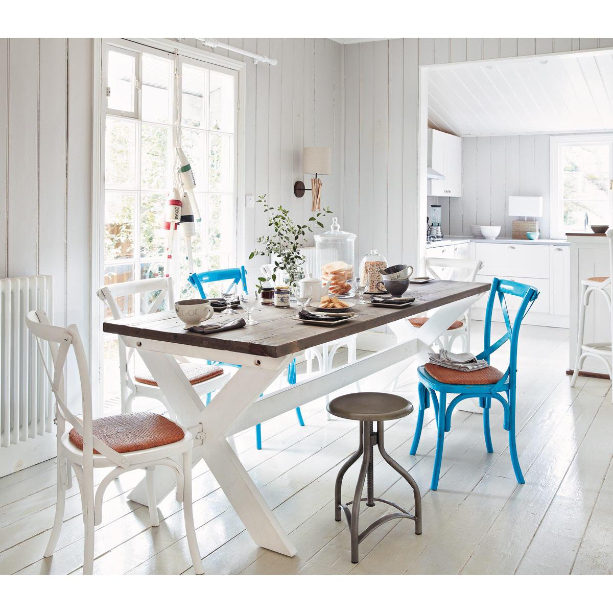 cucina maison du monde sedie shabbate in blu - Arredamento Shabby