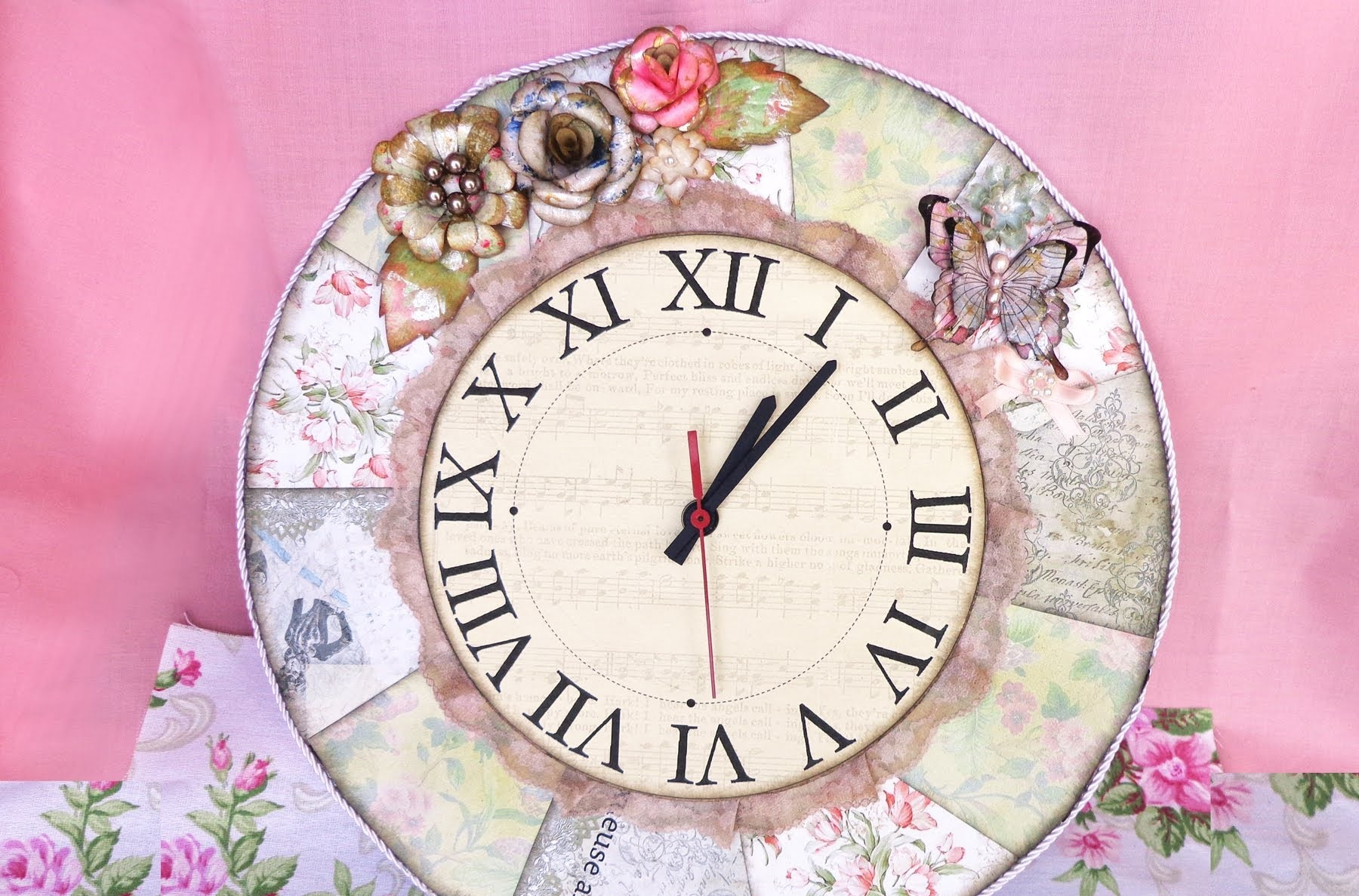 Come costruire un orologio in stile shabby chic video for Cornici shabby fai da te