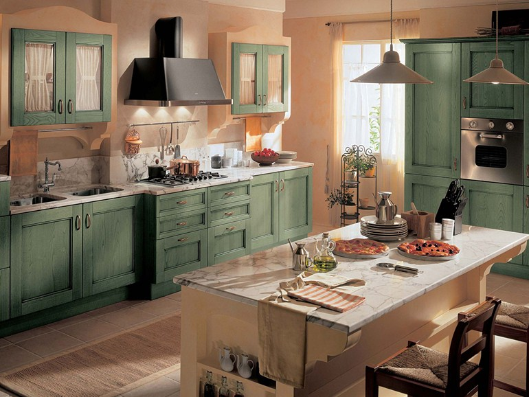 Le cucine country chic tra stile shabby e rustico foto for Ideas para cocinas pequenas rusticas