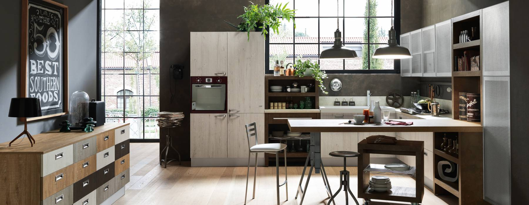 Cucina Moderna Con Tavolo Penisola Pavia Pictures to pin on Pinterest