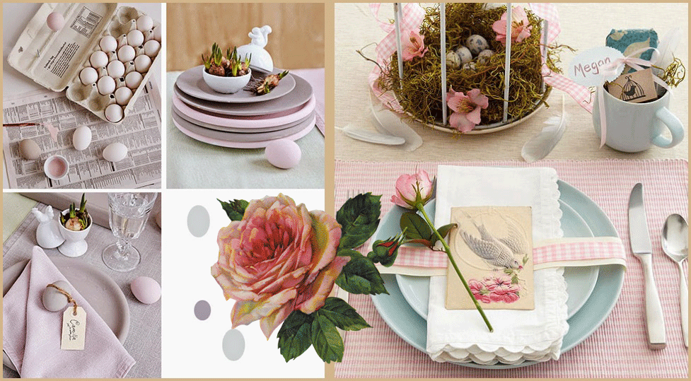 Come decorare la tavola per pasqua arredamento shabby for Decorare stanza shabby chic