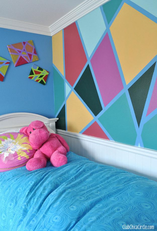 pareti con disegni geometrici - Arredamento Shabby