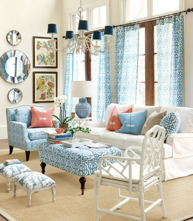 Chic Colorful Living Room: Salotti Shabby Chic Colorati Non Solo Total White