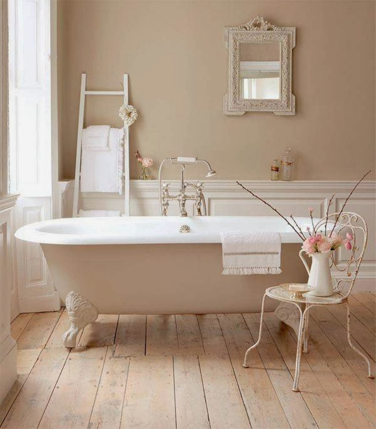 vasche creativo bagno da Shabby : vasca da bagno con scala - Arredamento Shabby