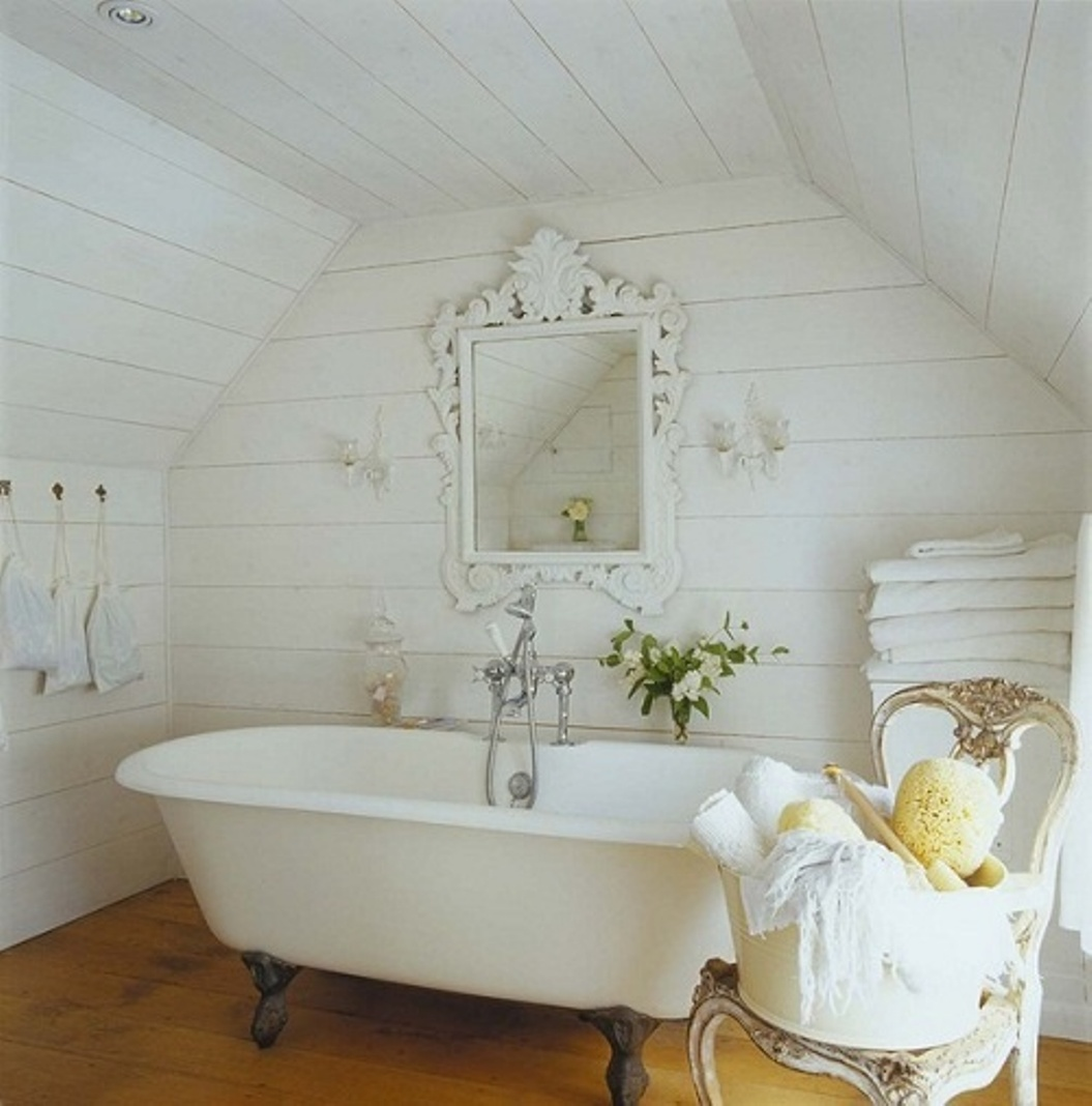 Foto e idee vasca da bagno shabby chic - Bagno shabby chic ...