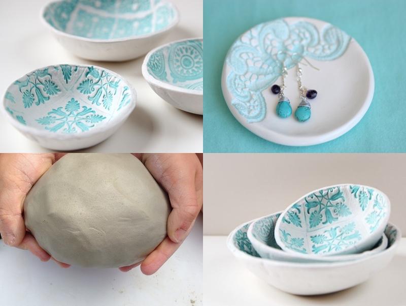 Come fare ciotole shabby con l 39 argilla con effetto ceramica - Si puo fare il bagno dopo mangiato ...