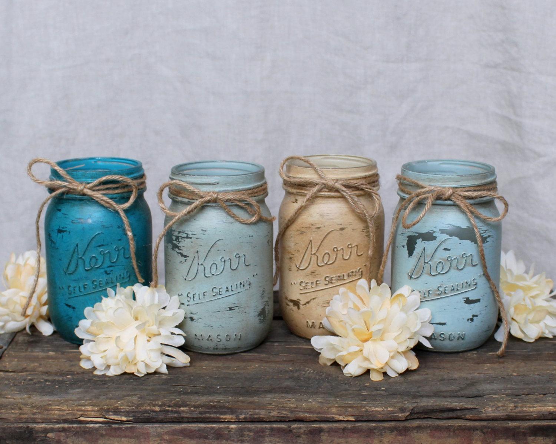 Connu Come decorare barattoli di vetro con vernice effetto shabby MN54