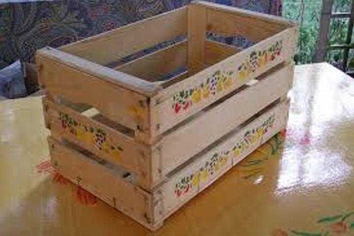 Come trasformare una cassetta di legno in stile shabby video - Decoupage su mobili laccati ...