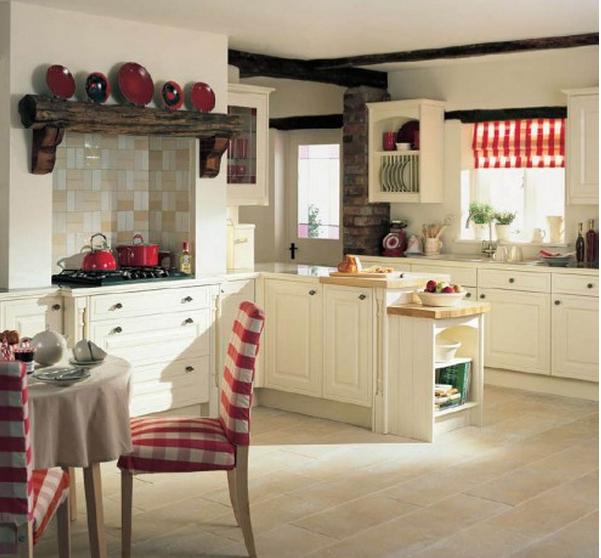 Le cucine country chic ecco lo stile pi amato dopo lo shabby - Cucina bianca e rossa ...