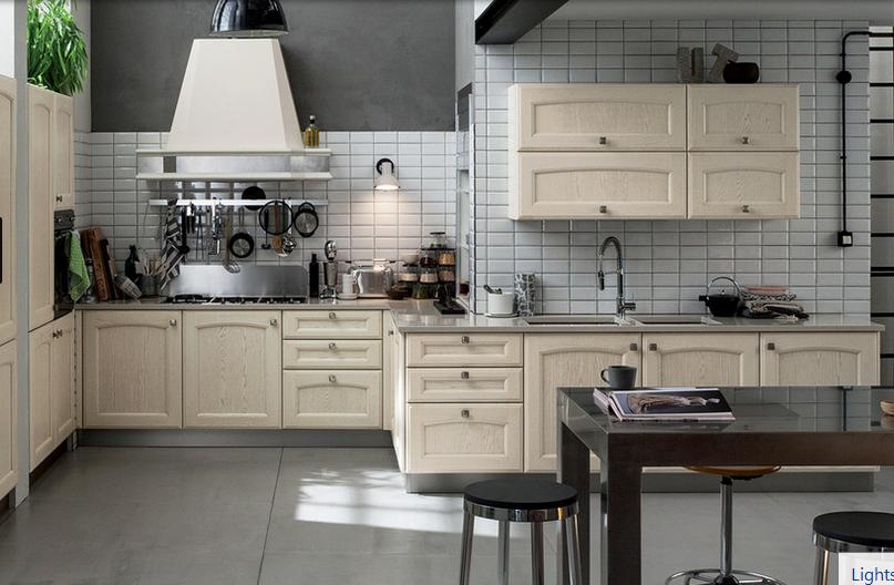 Cucine shabby chic moderne da scavolini a ikea for Immagini cucine