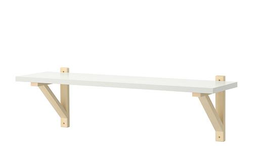 Come trasformare mobili ikea in stile shabby - Mensola sopra letto ...