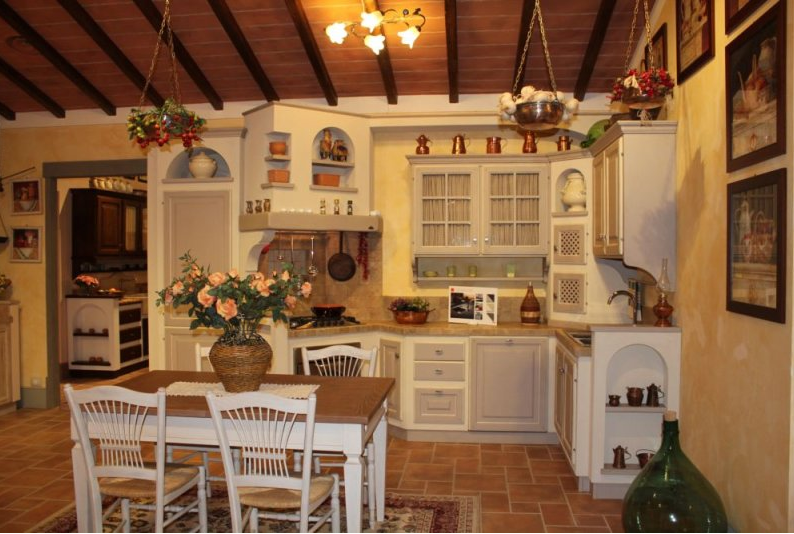 Cucina rustica grigio chiaro with cucine stile toscano for Piani di casa in stile toscano