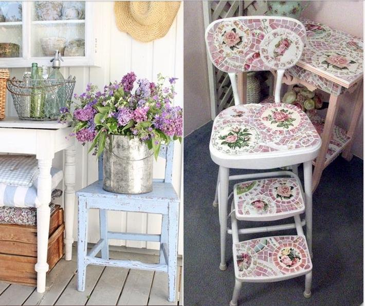 Come trasformare le sedie in stile shabby chic foto for Sedie shabby chic ikea