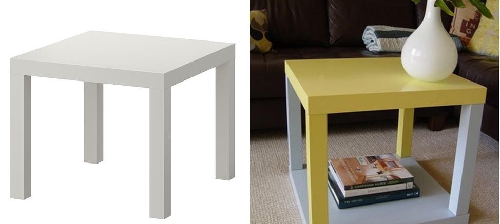 Come trasformare in stile shabby il tavolino Lack dell ...