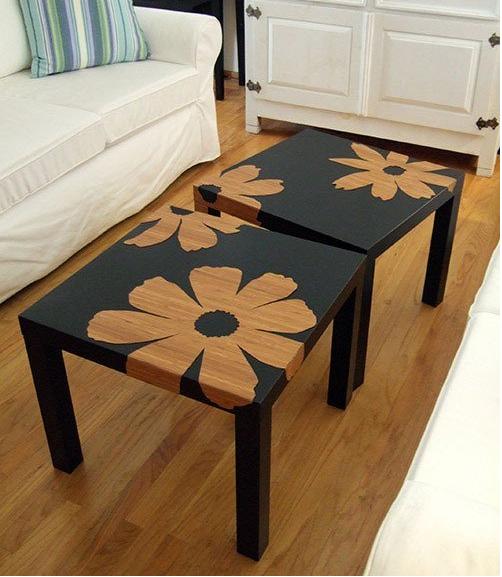 Come decorare i mobili ikea in stile shabby - Lack tavolino ikea ...