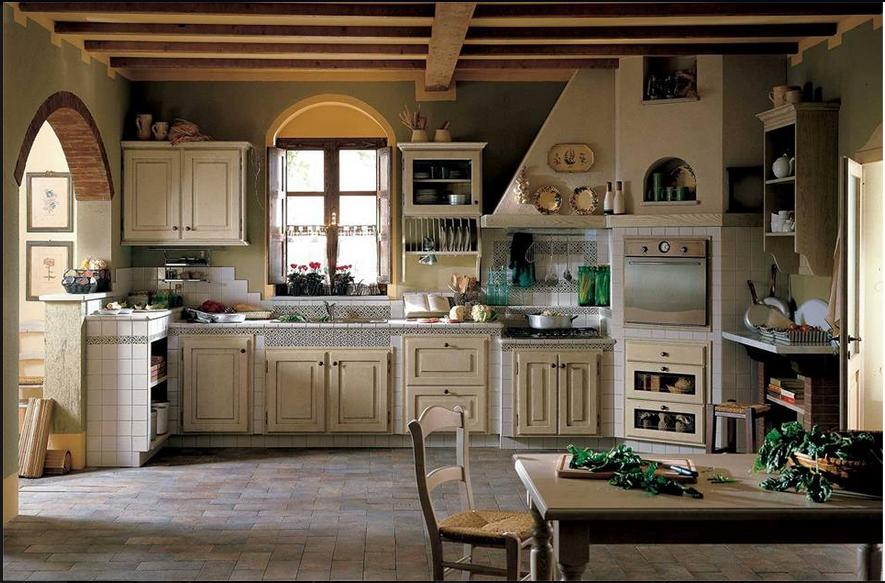 Perimetro cucine presenta le sue cucine country chic - Cucine rustiche in muratura e legno ...