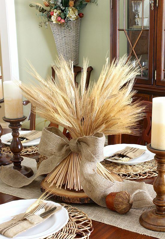 Decorare casa con le spighe di grano foto - Decorazioni candele fai da te ...