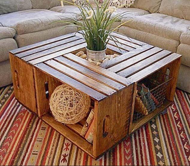Cassetta di legno tutorial per costruire un tavolino video - Tavolo con cassette di legno ...