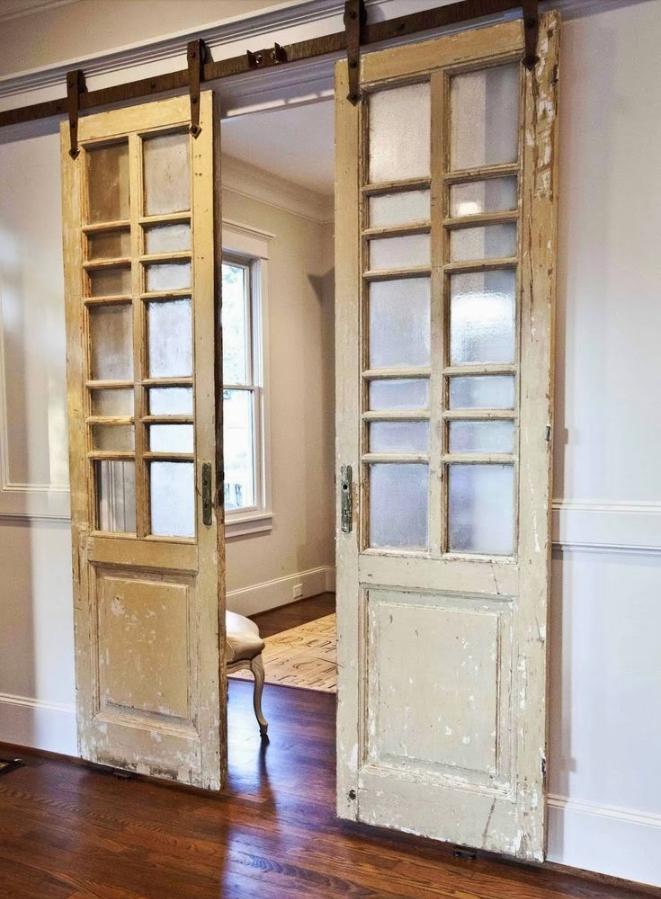 Porte interne shabby chic riciclare vecchie porte in - Porte stile shabby chic ...
