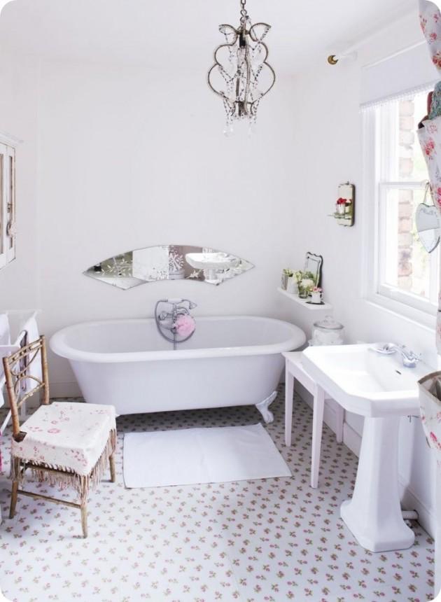 Tutti i segreti per realizzare un bagno shabby chic - Bagno country chic ...