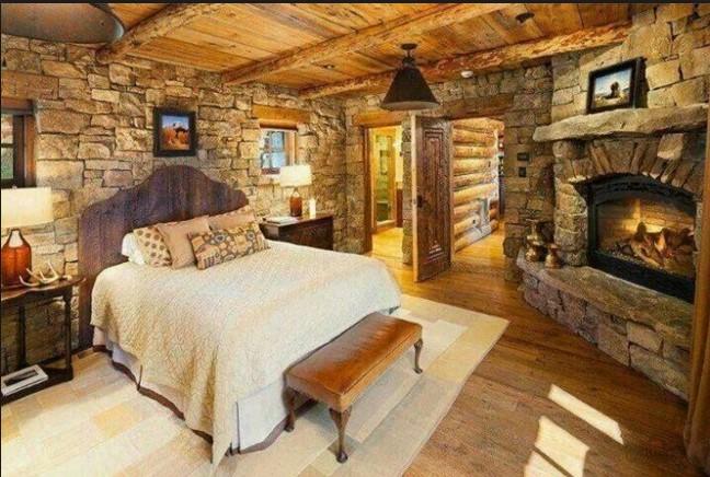 Case stile country come arredare il tuo cottage di montagna - Camere da letto di montagna ...