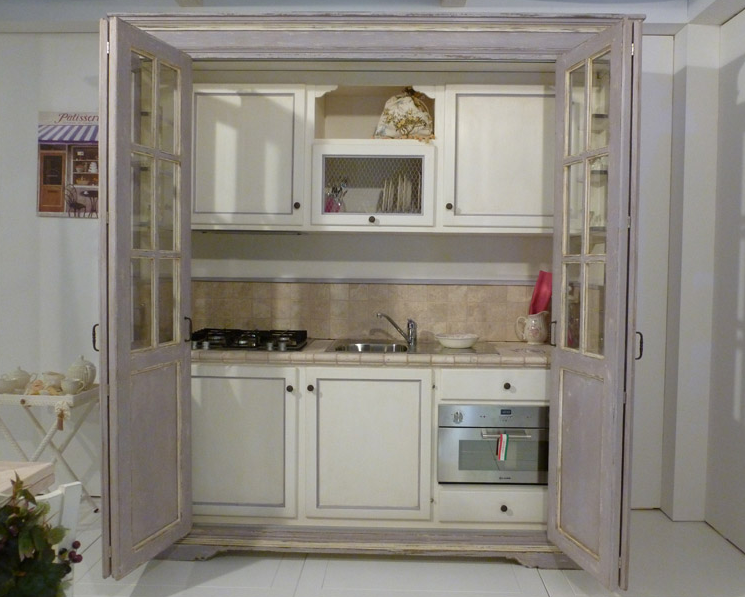 Mini cucine a scomparsa in stile provenzale: le info sull\'azienda