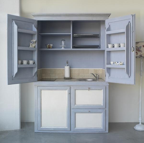 Mini cucine a scomparsa in stile provenzale le info sull - Cucine con piastre elettriche ...