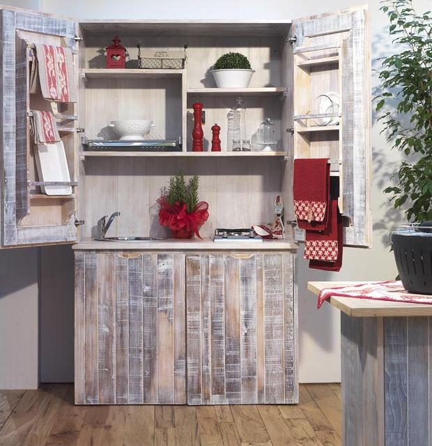 Mini cucine a scomparsa in stile provenzale le info sull for Mini arredo bisceglie