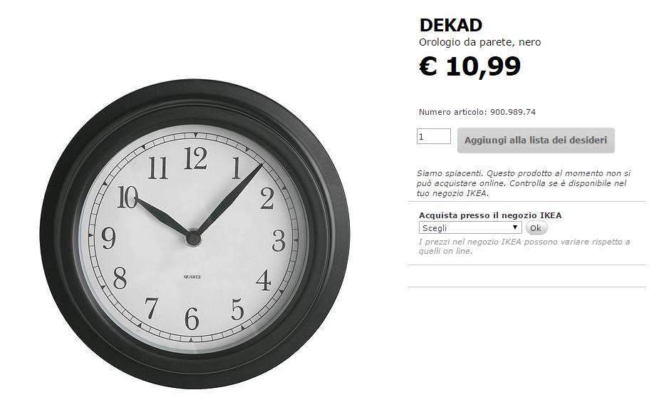Accessori e lampade ikea ecco i pi economici for Ikea orologio parete