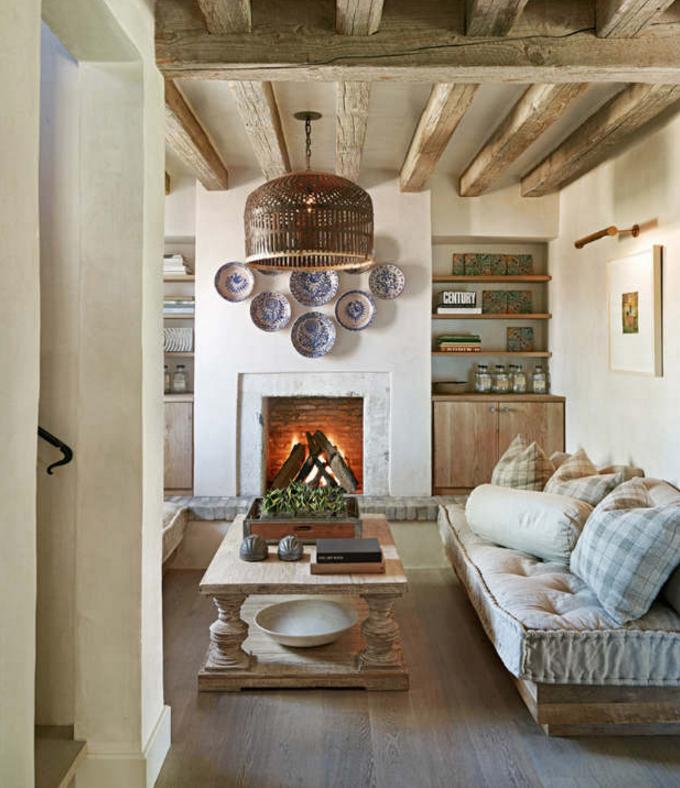 Come arredare il tuo salotto in stile shabby for Salotto con camino arredamento