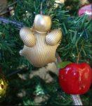Idee albero di Natale fai da te: decorazioni in pasta secca angelo grasso
