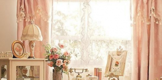 Shabby chic rose interiors living