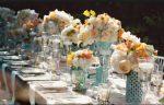 Decorare la tavola: qualche consiglio per farlo in stile shabby tavola azzurra e bianca